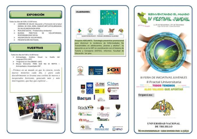 Triptico IV Festival Juvenil