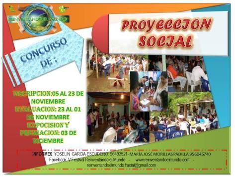 AFICHE PROYECCIÓN SOCIAL