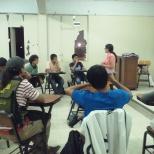 Jóvenes de diversas organizaciones coordinando